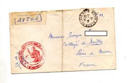 Lettre Franchise Militaire Cachet Alger + Commandement Air Algerie - Covers & Documents