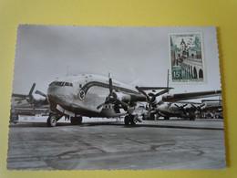 "AIR FRANCE  ""Provence"" BREGUET DEUX-PONTS  MARSEILLE MARIGNANE 1958 Signatures Des Pilotes ? - 1946-....: Modern Era"
