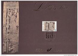 B01-192 Carte Souvenir - Cs - Hk4194 FDS LDS Belgique Le Calendrier Maya Last Day Sheet 21-12-2012 Bruxelles 1000 Bruss - Cartoline Commemorative