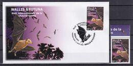 Wallis Et Futuna 2020 Natura Chauve-souris Bat FDC + Timbre RARE - Murciélagos