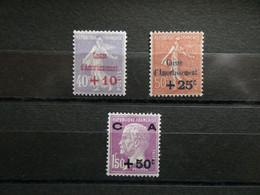 """FRANCE """"Caisse D'amortissement """"  N° 249 à 251 Neufs Sans Charnière MNH Cote 235 € - Zonder Classificatie"""