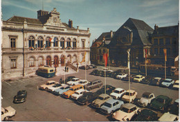 Cpsm Grand Format C54 LAON Place Du Gal.LECLERC-voitures Des Annés 60-tramway-bus-hôtel De Ville - Laon
