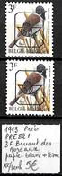 [843117]TB//**/Mnh-Belgique 1993 - PRE821, 3f Bruant Des Roseaux, Papier Blanc + Terme , Oiseaux, Animaux - Typo Precancels 1986-..(Birds)