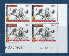 "Polynésie Coins Datés YT 656 "" Année Du Cheval "" Neuf** Du 26.12.2001 - Französisch-Polynesien"