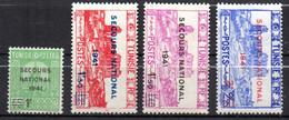 Col17  Colonie Tunisie N° 227 à 230 Neuf X MH  Cote 3,25€ - Unused Stamps