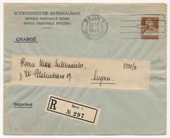 SUISSE - Enveloppe (Entier Postal PRIVÉ) 25c - Banque Nationale Suisse - Recommandé Bern 1 -1927 - Ganzsachen