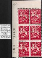 [106994]TB//**/Mnh-Belgique 1944 - N° 657-V9, Doudou à Mons, Clou Sur Le Carapaçon Dans Bd6, Cdf Daté - Plaatfouten (Catalogus Luppi)