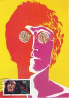 Carte Maximum  Musique Music Allemagne 1989 John Lennon The Beatles - Brieven En Documenten