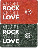 @+ Lot De 2 Cartes Cadeau - Gift Card : C&A Noel - France - Frankreich
