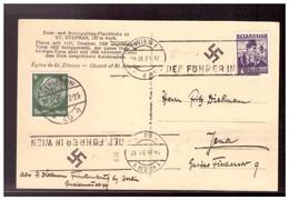 Dt- Reich (020562) AK Wien Mit Stephensdom Und Propagandastempel Auf Mif Deutsch/ Österreich, Dr Führer In Wien, 1938 - Covers & Documents
