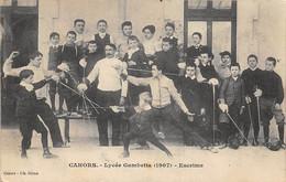 Cahors      46      Escrime.  Lycée Gambetta  1907  ( Voir Scan) - Cahors