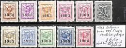 [849288]TB//*/Mh-Belgique 1963 - PRE736/46, */mh Très Propre, Dont 30c Cur Surcharge Déplacée - Typo Precancels 1951-80 (Figure On Lion)