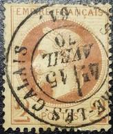 FRANCE Y&T N°26Ba Napoléon 2c Rouge-brun Foncé. Cachet Du 15 Avril 1870 ? Les-Calais - 1863-1870 Napoleone III Con Gli Allori