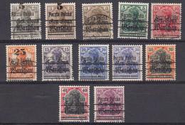 Pologne 1918 Timbres De L'occupation Allemande Yvert 5 / 15 Obliteres Sauf 5 Et 11 Neufs Avec Charniere. Manque Le 12 - Gebraucht