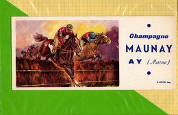 BUVARD & Blotting Paper  : Champagne MAUNAY AY  : Hippisme  Saut De Haie - Sports