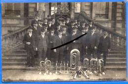 CPA 27 - BOURG-ACHARD - CARTE PHOTO RARE - Fête De Pâques 1923 Devant La Mairie - Other Municipalities