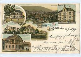 U5524/ Gruß Aus Lembach Elsaß Litho AK 1899 - Elsass