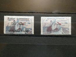 """FRANCE """"Etiquettes De Poste Aérienne """" Guynemer Et Buc   Cote 70 €  Cotées Sur Yvert N° 1 Et 2 - 1927-1959 Postfris"""