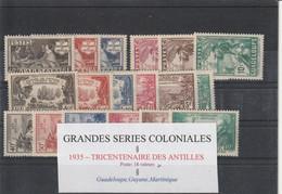 Grandes Séries Coloniales  Tricentenaire Des Antilles  -  18 Valeurs  3  Pays - 1935 Tricentenaire Des Antilles