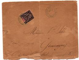 Brazzaville 1896 Congo - Type Groupe Sur Lettre - Storia Postale