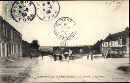 CPA Saint Marcel Vernon Eure, La Place - Andere Gemeenten