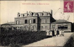 CPA Saint Marcel Eure, La Mairie Et Les Ecoles - Andere Gemeenten