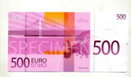 Billet Specimen 500 Euros Publicite Afibel - EURO