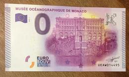 2015 BILLET 0 EURO SOUVENIR MUSÉE OCÉANOGRAPHIQUE DE MONACO ZERO 0 EURO SCHEIN BANKNOTE PAPER MONEY - Monaco