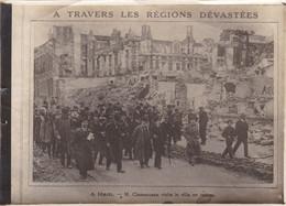 HAM Visite De M. Clémenceau La Ville En Ruine Après 1918 - 1914-18