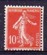 10c Semeuse N° 138m Neuf * - Faux De Turin - Variétés: 1900-20 Neufs