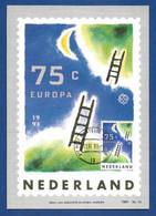 Nederland 1991  Mi.Nr. 1410 , EUROPA CEPT  Europäische Weltraumfahrt - Maximum Card - Groningen 11.VI.91 - 1991