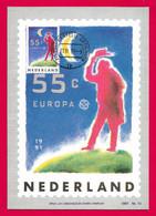 Nederland 1991  Mi.Nr. 1409 , EUROPA CEPT  Europäische Weltraumfahrt - Maximum Card - Groningen 11.VI.91 - 1991