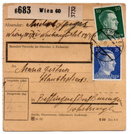 Allemagne  //  Colis Postal  //   De Wien  // Pour Beting ( Bettingen ) Post Bening ( Benigen ) - Briefe U. Dokumente