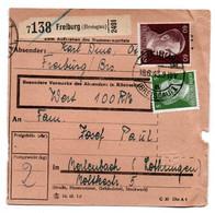 Allemagne  //  Colis Postal  //   De Freiburg  ( Breisgau )  // 18-6-43 - Briefe U. Dokumente