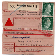 Allemagne  //  Colis Postal  //   De Esslingen - Briefe U. Dokumente