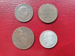 Lot Pièces Bronze Et Argent Maroc, Espagne, Autriche, Grande-Bretagne 1816-1960 - Marokko