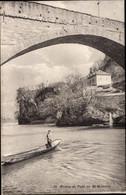 CPA St Maurice Wallis Schweiz, Rhone Et Pont, Barque - VS Valais