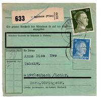 Allemagne  //  Colis Postal  //   De Iggelheim - Briefe U. Dokumente