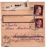 Allemagne  //  Colis Postal  //   De Mainz  / 16-3-43 - Briefe U. Dokumente
