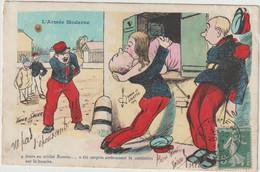 Illustrateur Xavier Sager -L'armée Moderne  -(D.9511) - Humor