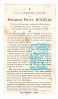 DP Tombé Gesneuveld Guerre 40-45 6e Bat. De Fusiliers Pierre Roiseux ° Assenois Léglise 1924 † Gemmenich Plombières 1944 - Andachtsbilder