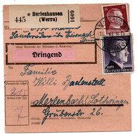 Allemagne  //  Colis Postal  //   De Herleshausen ( Werra ) - Briefe U. Dokumente