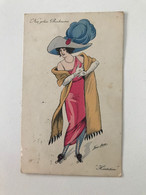 "Carte Postale Ancienne (1912) Signée  Xavier SAGER  ""Nos Jolies Rinkeuses""  ""Hésitation"" - Sager, Xavier"