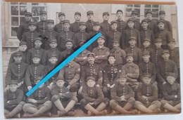 1918 Fontenay Le Comte 18 Eme Bataillon De Chasseurs à Pieds Instruction 102 Et 8eme Poilus Tranchée 1WK 14-18 Cart Ph - Guerra, Militari