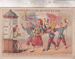 GRANDS MAGASINS COIN DE LA RUE / A TOUS LES COEURS BIEN NES QUE LA PATRIE EST CHERE - Ohne Zuordnung