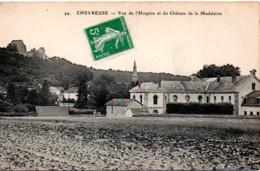 CHEVREUSE  VUE DE L'HOSPICE ET DU CHATEAU DE LA MADELEINE - Chevreuse