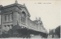 75 PARIS GARE DU NORD  CHEVEAUX ATTELES  ANIMATION 110 - Pariser Métro, Bahnhöfe