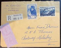 N° 928 + N° 461 Sur Lettre Recommandée Datée Du 15/08/1957 - Sin Clasificación