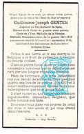 DP Victime De Guerre 40-45 Corporal 20e Regime De Ligne - Guillaume J. Genten † Courtil Bovigny Gouvy 1945 - Andachtsbilder