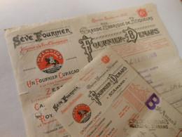 T532 / Facture + Traite FOURNIER DEMARS - ST-AMAND Cher - Grande Fabrique De Liqueurs - 1938 - Factures